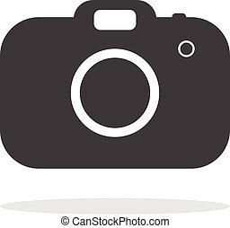 Camera icon Isolated on white background ,Flat style.