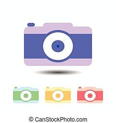 Camera icon. isolated on white background