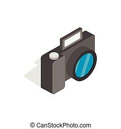 Camera icon, isometric 3d style