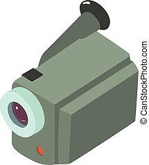 Camera icon, isometric style