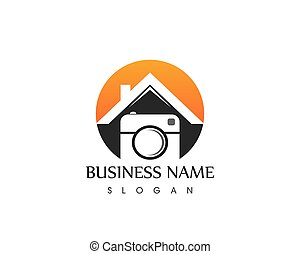 Camera icon logo vector