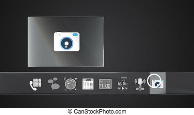 Camera icon mobile application - Icon for mobile application...