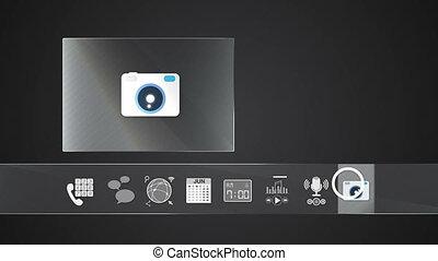 Camera icon mobile application - Icon for mobile application...
