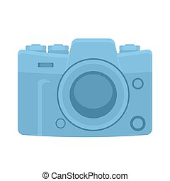 Camera icon on a white isolated background. Vector image