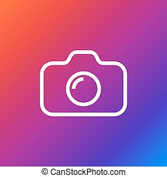 Camera Icon on colored background