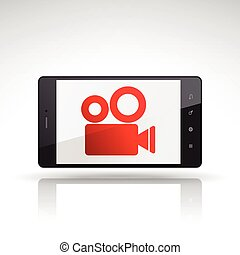 camera icon on mobile phone