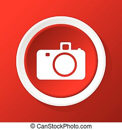 Camera icon on red