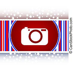 Camera icon on round internet button original