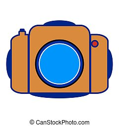 Camera icon on white.