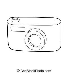 Camera icon, outline style