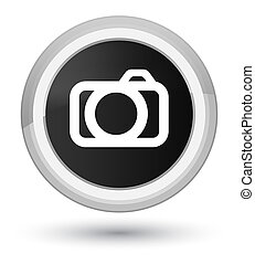Camera icon prime black round button