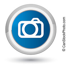 Camera icon prime blue round button