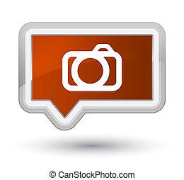 Camera icon prime brown banner button