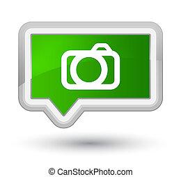 Camera icon prime green banner button