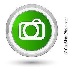 Camera icon prime green round button