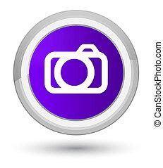 Camera icon prime purple round button