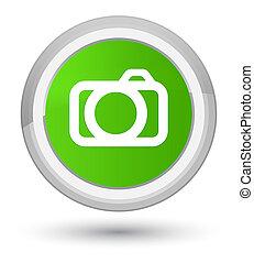 Camera icon prime soft green round button