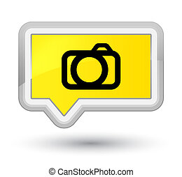 Camera icon prime yellow banner button