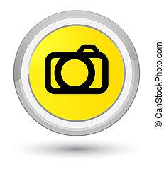 Camera icon prime yellow round button