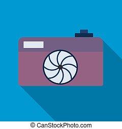 Professional photocamera symbol - Camera icon. Professional...