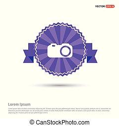 Camera Icon - Purple Ribbon banner