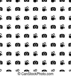 Camera icon seamless pattern