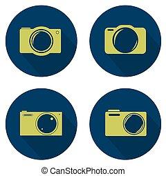 Camera icon set