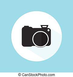 Camera Icon Silhouette Photography Symbol Equipment Vector Design Illustration
