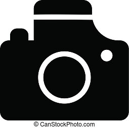 Camera icon, simple style