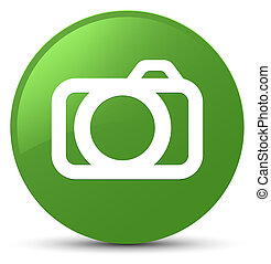 Camera icon soft green round button