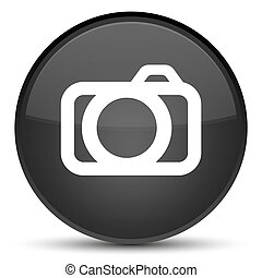 Camera icon special black round button