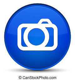 Camera icon special blue round button