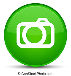 Camera icon special green round button