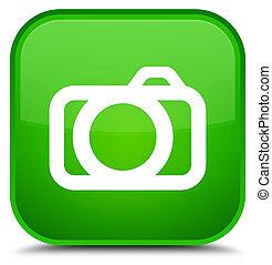 Camera icon special green square button