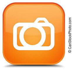 Camera icon special orange square button