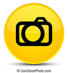 Camera icon special yellow round button