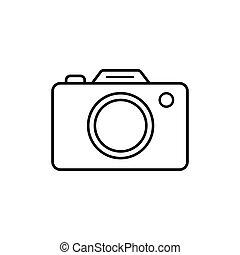Camera icon symbol isolated on white background. Vector illustration