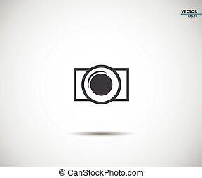 Camera icon symbol, logo Vector illustration