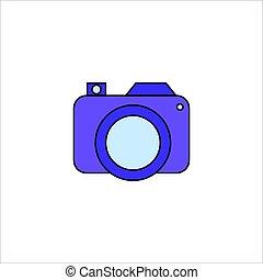 Camera Icon Vector Conceptual Design Illustration