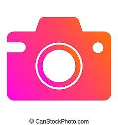 Camera icon. Vector gradient fresh color set.