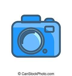 camera icon vector illustration isolated on white background