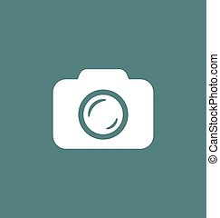 Camera icon vector illustration. Photo camera sign