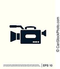 Camera icon vector logo template