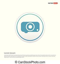 Camera Icon - white circle button