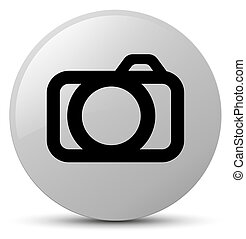 Camera icon white round button