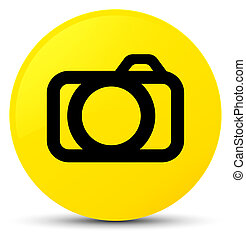 Camera icon yellow round button