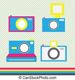 Camera icons in cmyk