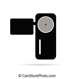 camera illustration in black