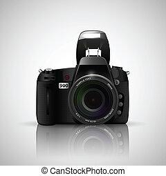 Camera - illustration of camera on white background