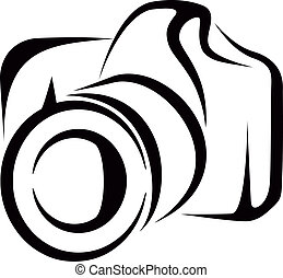 camera - Simple vector illustration of a photo camera